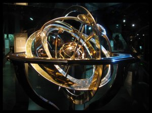 Armillary sphere based on the geocentric model